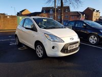 USED 2014 64 FORD KA 1.2 EDGE 3d 69 BHP WITH AIR CONDITIONINGAND AUX/USB!!!!..EXCELLENT FUEL ECONOMY!!..LOW CO2 EMISSIONS(115G/KM)..£30 ROAD TAX..FULL HISTORY...ONLY 17155 MILES FROM NEW!!