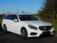 USED 2014 64 MERCEDES-BENZ E CLASS 2.1 E220 BLUETEC AMG LINE 5d AUTO 174 BHP SAT NAV, DAB, HEATED SEATS