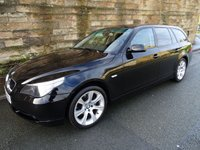 USED 2006 56 BMW 5 SERIES 2.0 520D SE TOURING 5d AUTO 161 BHP FSH 11 Stamps, 1 Owner From New, Sat Nav