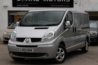USED 2013 63 RENAULT TRAFIC SPORT LL29 2.0 DCI 115 LWB PANEL VAN 1 OWNER ** FSH ** SAT-NAV ** BLUETOOTH ** PARK AID ** CRUISE CONTROL
