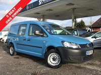 USED 2013 63 VOLKSWAGEN CADDY MAXI 1.6 C20 TDI KOMBI 140 1d 102 BHP 5 Seat, Tow Pack, Two Side Loading Doors, One Piece Tailgate, One Owner.
