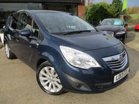 "USED 2013 13 VAUXHALL MERIVA 1.4 SE 5d 138 BHP ONE PRIVATE OWNER, PANORAMIC ROOF, HALF LEATHER, 17"" ALLOYS, AIR CON, FULL MAIN DEALER SERVICE HISTORY"