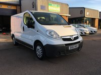 USED 2013 63 VAUXHALL VIVARO 2.0 2900 CDTI 1d 113 BHP FSH, BLUETOOTH, A CHOICE OF 3, 6 MONTH WARRANTY & FINANCE ARRANGED. FSH, Bluetooth, Radio/CD, Drivers airbag, Factory fitted bulk head, Side loading door, Ply-lined. WHITE, Very Good Condition, 1 Owner, remote Central Locking, Drivers Airbag, CD Player/FM Radio, Steering Column Radio Control, Side Loading Door, Wood Lined, Barn Rear Doors,