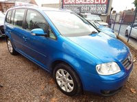 USED 2006 56 VOLKSWAGEN TOURAN 1.9 SE TDI 7 STR 5d 103 BHP 7 SEATER, FULL SERVICE HISTORY, GREAT VALUE