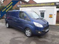 2014 FORD TRANSIT CUSTOM 2.2 290 LIMITED MODEL,125 BHP, DEEP IMPACT BLUE, LONG WHEEL BASE,ONE OWNER £SOLD
