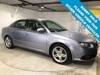 USED 2005 55 AUDI A4 2.0 T FSI S LINE 4d 197 BHP Audi Symphony sound system,  Cloth upholstery, Front and rear parking sensors,