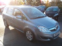 USED 2010 60 VAUXHALL ZAFIRA 1.7 DESIGN CDTI ECOFLEX 5d 108 BHP 7 SEATER, DIESEL,  GREAT SPEC,  SERVICE HISTORY, DRIVES SUPERBLY !!!!!!