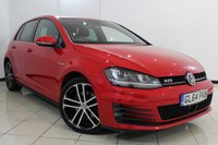 USED 2014 64 VOLKSWAGEN GOLF 2.0 GTD 5DR 181 BHP BLUETOOTH + PARKING SENSOR + CRUISE CONTROL + MULTI FUNCTION WHEEL + CLIMATE CONTROL + ALLOY WHEELS