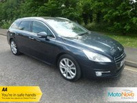 """USED 2013 13 PEUGEOT 508 1.6 E-HDI SW ALLURE 5d 115 BHP FANTASTIC BIG SPEC AUTOMATIC PEUGEOT 508 ESTATE WITH SATELLITE NAVIGATION, GLASS PANORAMIC ROOF, HALF LEATHER, CLIMATE CONTROL, CRUISE CONTROL, 18"""" ALLOY WHEELS AND SERVICE HISTORY."""