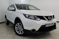 USED 2014 64 NISSAN QASHQAI 1.5 DCI ACENTA 5DR 108 BHP FULL SERVICE HISTORY + CRUISE CONTROL + MULTI FUNCTION WHEEL + CLIMATE CONTROL + RADIO/CD + 17 INCH ALLOY WHEELS