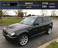 "USED 2008 08 BMW X3 2.0 D M SPORT 5d 175 BHP 57000 MILES FSH 1 OWNER BLACK/BLACK LEATHER 19"" ALLOYS"