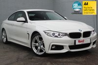 USED 2014 64 BMW 4 SERIES 2.0 420I M SPORT 2d 181 BHP 1 OWNER+RED LEATHER+FSH+SATNAV