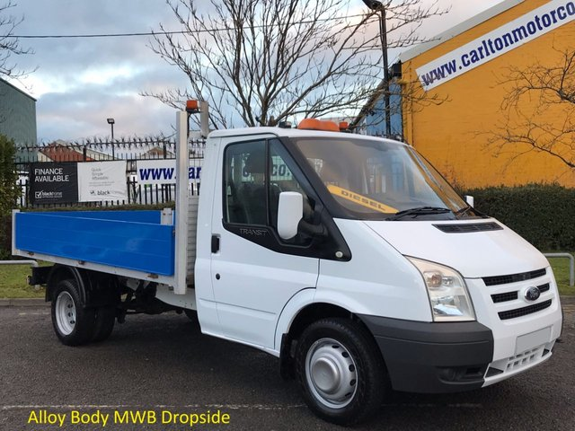 2009 59 FORD TRANSIT 2.4 115 T350 MWB Dropside / Pickup Low Mileage Ex Water Authority Free UK Delivery