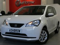 USED 2014 64 SEAT MII 1.0 TOCA 3d 60 BHP SEAT PORTABLE SAT NAV WITH BLUETOOTH PHONE & MUSIC STREAMING, UPGRADE SPACE SAVING SPARE WHEEL, UPGRADE TOOL KIT & JACK, MANUAL 5 SPEED GEARBOX, COLOUR CODED EXTERIOR,  8 SPOKE ALLOY WHEELS, BLACK CLOTH INTERIOR, ELECTRIC HEATED MIRRORS, ELECTRIC WINDOWS, LEATHER STEERING WHEEL, AIR CONDITIONING, CD HIFI, AUX INPUT, REMOTE CENTRAL LOCKING, ISO FIX, FOLDING REAR SEATS.  1 OWNER FROM NEW, FULL SERVICE HISTORY, £20 ROAD TAX (105 G/KM), VAT QUALIFYING.
