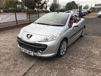 USED 2007 07 PEUGEOT 207 1.6 GT COUPE CABRIOLET 2d 118 BHP Service History-Electric Roof-1 Former Keeper-Low Mileage-Leather Interior