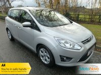 USED 2011 61 FORD GRAND C-MAX 1.6 TDCi Zetec 5dr (7 Seats) GREAT VALUE SEVEN SEAT GRAND C-MAX WITH ONE PREVIOUS OWNER, AIR CONDITIONING, ALLOY WHEELS AND SERVICE HISTORY
