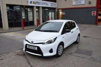 USED 2013 13 TOYOTA YARIS 1.5 T3 HYBRID 5d AUTO CVT 75 BHP AIR CON ECO/EV MODE DIESEL HATCHBACK CAR ONE OWNER FULL S/H SPARE KEY FREE ROAD TAX