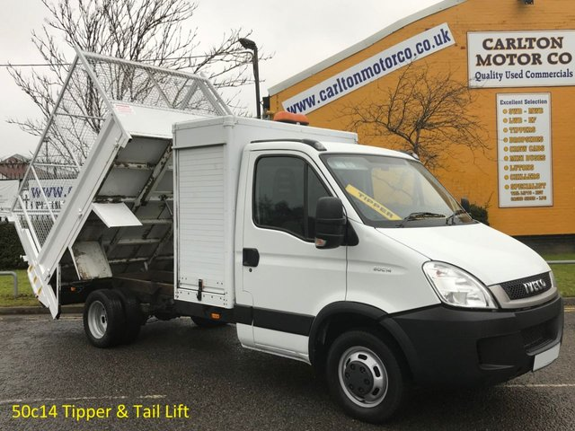 2010 60 IVECO-FORD DAILY 3.0 50C14 Tipper,Caged Refuge Body+Tail Lift DRW