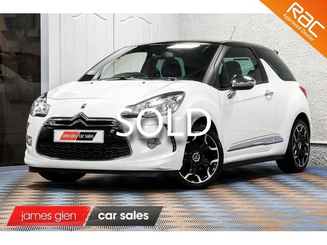 USED 2012 12 CITROEN DS3 1.6 E-HDI AIRDREAM DSPORT PLUS 3d 111 BHP Two Owners | Documented Service History