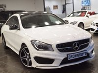 USED 2013 13 MERCEDES-BENZ CLA 2.1 CLA220 CDI AMG SPORT 4d AUTO 170 BHP PANORAMIC SUNROOF+FMBSH