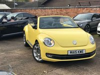 USED 2015 15 VOLKSWAGEN BEETLE 2.0 SPORT TDI DSG 3dr AUTO 139 BHP Convertible 1 Owner, Full VW History, Heated seats, Sat Nav, Vat Q.