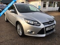 USED 2012 61 FORD FOCUS 1.6 ZETEC 5d 104 BHP PRIVACY GLASS / PARK ASSIST