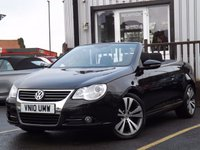 USED 2010 10 VOLKSWAGEN EOS 2.0 SPORT TDI 2d 138 BHP 6 SERVICE HISTORY STAMPS, NEW MOT, CONVERTIBLE 2.0 DIESEL MANUAL