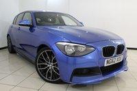 USED 2012 62 BMW 1 SERIES 2.0 118D M SPORT 5DR 141 BHP FULL BMW SERVICE HISTORY + PARKING SENSOR + BLUETOOTH + CRUISE CONTROL + MULTI FUNCTION WHEEL + RADIO/CD + 18 INCH ALLOY WHEELS