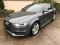 USED 2014 AUDI A4 2.0 TDI S LINE 4d 148 BHP BEAUTIFUL CAR, PRIVACY, HALF LEATHER, SAT NAV, GREAT COLOUR