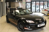 USED 2012 12 MAZDA MX-5 2.0 I ROADSTER KURO EDITION 2d 158 BHP FULL MAZDA SERVICE HISTORY + FULL CREAM LEATHER SEATS + 17 INCH ALLOYS + HEATED FRONT SEATS + CLIMATE CONTROL + ELECTRIC/HEATED MIRRORS