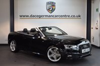 USED 2014 63 AUDI A5 3.0 TDI QUATTRO S LINE SPECIAL EDITION 2DR AUTO 242 BHP + FULL BLACK LEATHER INTERIOR + FULL AUDI SERVICE HISTORY + BLUETOOTH + HEATED SPORT SEATS + DAB RADIO +  CRUISE CONTROL + BAND AND OLUFSEN SPEAKERS + RAIN SENSORS + PARKING SENSORS + 19 INCH ALLOY WHEELS +