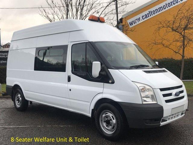 2009 59 FORD TRANSIT 2.4 115 T350 LWB [ 8 seat Welfare Unit +Toilet ] Hi/R van Low Mileage Delivery T,B,A