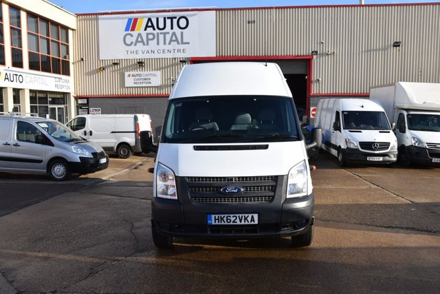 2013 62 FORD TRANSIT 2.2 350 H/R 5d 125 BHP LWB JUMBO RWD DIESEL PANEL MANUAL VAN TWO OWNER FULL S/H SPARE KEY