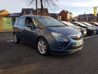 USED 2014 64 VAUXHALL ZAFIRA TOURER 2.0 SRI CDTI 5d AUTO 162 BHP 7 SEATER AUTOMATIC WITH PARKING SENSORS, AIR CONDITIONING, AND 18 INCH ALLOY WHEELS!!..EXCELLENT FUEL ECONOMY!..LOW CO2 EMISSIONS..LOW ROAD TAX...FULL HISTORY...ONLY 16124 MILES FROM NEW