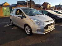 USED 2015 64 FORD B-MAX 1.6 TITANIUM 5d AUTO 104 BHP WITH ALLOY WHEELS, CLIMATE CONTROL, CRUISE CONTROL,AND FRONT HEATED SCREEN!!..EXCELLENT FUEL ECONOMY!!..LOW CO2 EMISSIONS..LOW ROAD TAX..FULL HISTORY...ONLY 8635 MILES FROM NEW!!