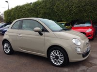 2015 FIAT 500 1.2 LOUNGE 3d  1 LADY OWNER WITH PAN ROOF & ALLOYS £6500.00