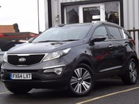 USED 2014 64 KIA SPORTAGE 2.0 CRDI KX-3 SAT NAV 5d 134 BHP 4x4 FULL DEALER SERVICE HISTORY, BALANCE OF MANUFACTURERS WARRANTY, HUGE AMOUNT OF SPEC, FANTASTIC CONDITION CAR.