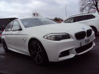 USED 2011 61 BMW 5 SERIES 2.0 520D M SPORT 4d 181BHP FSH 6STAMPS+19 UPGRADE ALLOYS+