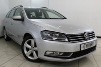 USED 2011 11 VOLKSWAGEN PASSAT 1.6 SE TDI BLUEMOTION TECHNOLOGY 5DR 104 BHP AIR CONDITIONING + CRUISE CONTROL + MULTI FUNCTION WHEEL + RADIO/CD + 17 INCH ALLOY WHEELS