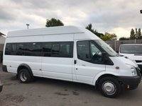 2013 FORD TRANSIT 2.2 430 H/R BUS 17 STR 1d 134 BHP £8950.00