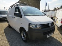 USED 2012 12 VOLKSWAGEN TRANSPORTER T28 2.0TDI BLUEMOTION 84 BHP SWB VAN WITH TWIN SIDE DOORS ONE CO. OWNER - ONLY 52,000m
