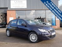 USED 2014 14 PEUGEOT 308 1.6 THP ACCESS 5d 125 BHP BLUETOOTH PHONE PREPARATION, CRUISE CONTROL + AIR CONDITIONING