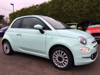 2015 FIAT 500 1.2 LOUNGE 3d IN SMOOTH MINT WITH TOUCH SCREEN CONNECTION £7500.00