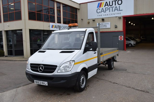 2013 63 MERCEDES-BENZ SPRINTER 2.1 313 CDI LWB 2d 129 BHP RWD S/CAB DIESEL MANUAL DROPSIDE LORRY  ONE OWNER FULL S/H SPARE KEY