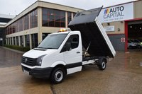 USED 2015 15 VOLKSWAGEN CRAFTER 2.0 CR35 TDI C/C 2d 109 BHP LWB S/CAB RWD DIESEL MANUAL TIPPER ONE OWNER FULL S/H SPARE KEY