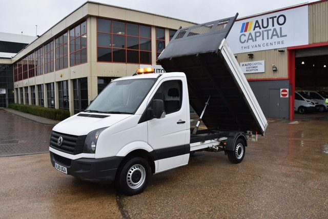 2015 15 VOLKSWAGEN CRAFTER 2.0 CR35 TDI C/C 2d 109 BHP LWB S/CAB RWD DIESEL MANUAL TIPPER ONE OWNER FULL S/H SPARE KEY