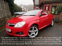USED 2007 VAUXHALL TIGRA 1.4 EXCLUSIV 16V 2d 90 BHP