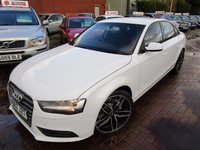 USED 2013 63 AUDI A4 2.0 TDI SE 4d 134 BHP 1 COMPANY OWNER FULL DEALER HISTORY