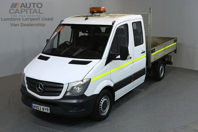 2013 63 MERCEDES-BENZ SPRINTER 2.1 313 CDI 129 BHP MWB TIPPER 6 SEATER TIPPER, MEDIUM WHEELBASE