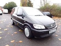 USED 2004 54 VAUXHALL ZAFIRA 1.6 LIFE 16V 5d 99 BHP PART EXCHANGE TO CLEAR, HPI CLEAR ,MOT APRIL 2018, 7 SEATER